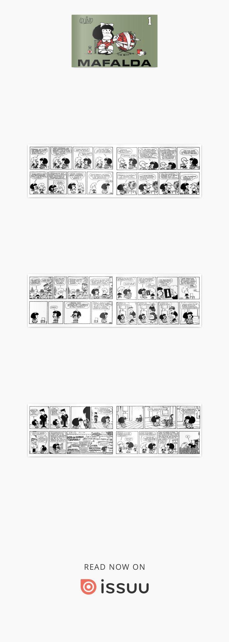 Mafalda es el nombre de una tira de prensa argentina desarrollada por el humorista gráfico Quino (Joaquín Salvador Lavado) de 1964 a 1973, protagonizada por la niña homónima, «espejo de la clase media latinoamericana y de la juventud progresista», que se muestra preocupada por la humanidad y la paz mundial, y se rebela contra el mundo legado por sus mayores. Es famosa en el mundo entero por la gracia de sus preguntas, la inocencia de su mundo y la altura de sus ideales. Luchadora social…