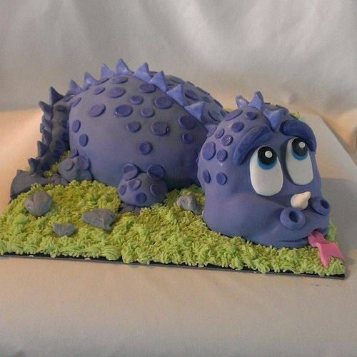 Dinosaur cake....chocolate cake with buttercream..decorated with fondant