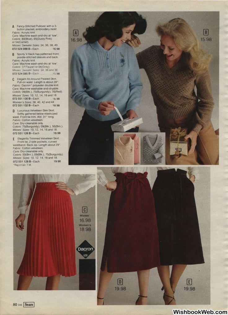 1979 SimpsonSears Canada Christmas Catalog Sweater sizes