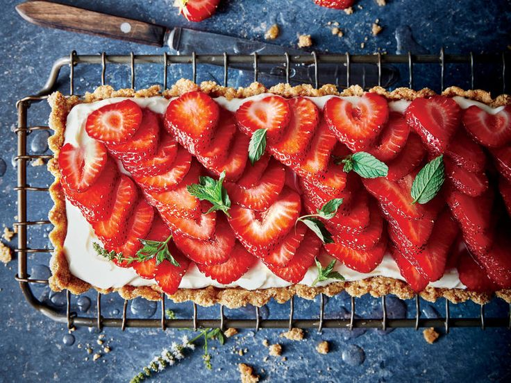 The rectangular tart pan makes for a striking presentation, but if you don't have one, you can use a 9-inch tart pan or pie plate.View Recipe: Rosé-Glazed Strawberry Tart
