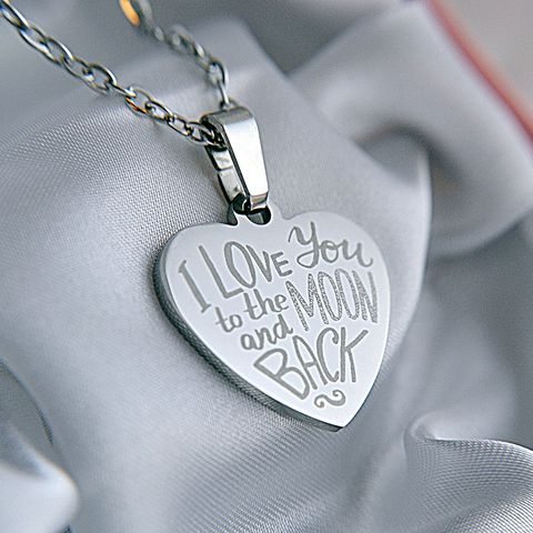 """""""I love you to the moon and back"""" heart pendant for a special Mother, Wife, Sister, Daughter or any other special lady in your life. A lovely gift idea."""