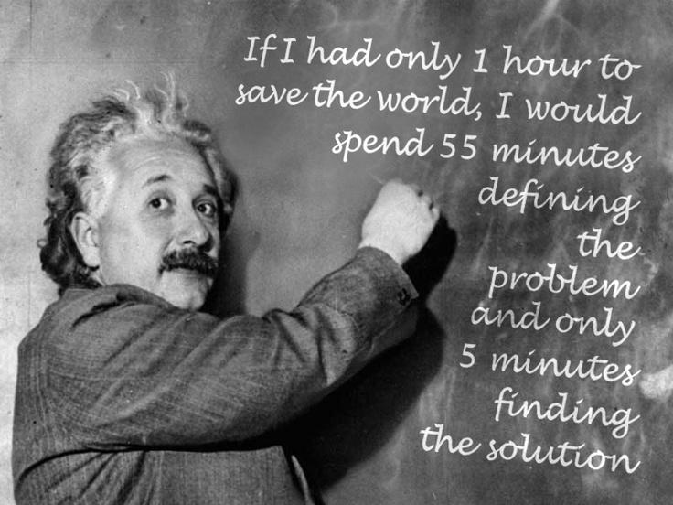 Problem Solving ... - Quote By Einstein