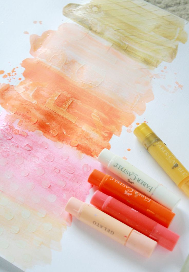 Tips for using gelatos, gel medium and stencils! by Kim Stewart