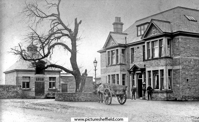 Big Tree Hotel, Chesterfield Road, Woodseats. Originally named the Masons Arms. Renamed the Big Tree due to the large oak tree at the front. Wesley is said to have preached here