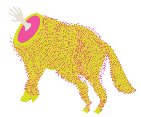 The Famous Wolf. by Ayesha Kapadia, via Behance