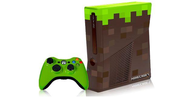 Minecraft themed custom Xbox 360 console