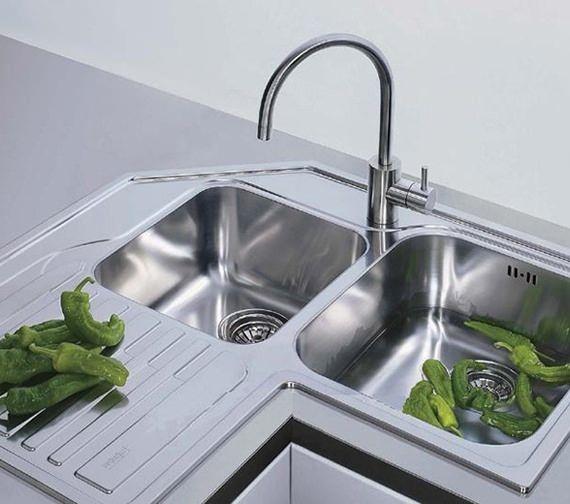 Kitchen Sink Shower 22 best kitchen sinks images on pinterest bowls kitchen faucets franke studio stx 621 e stainless steel corner inset sink workwithnaturefo
