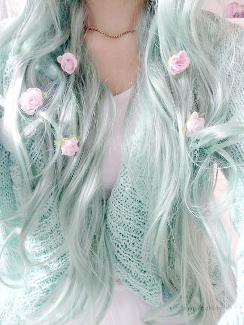 Imagen de hair, flowers, and pastel