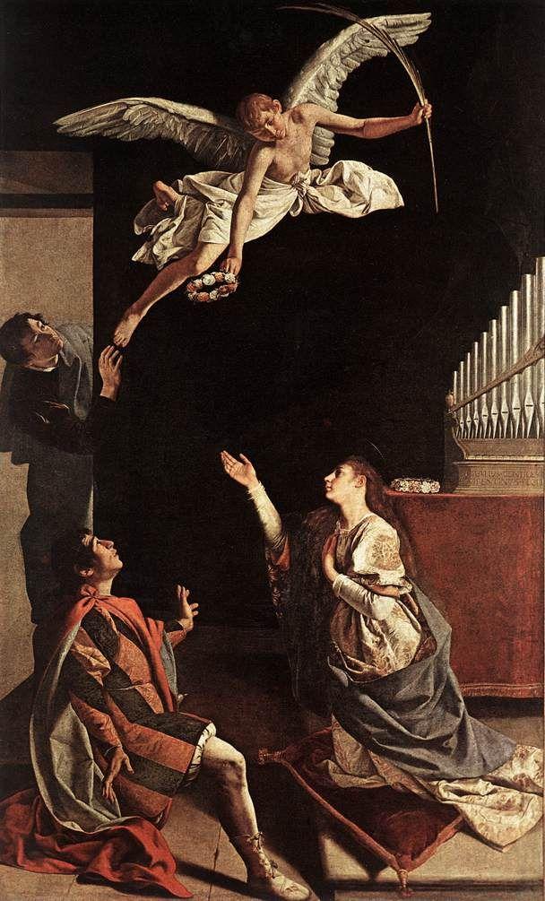 Orazio Gentileschi. Sts. Cecilia, Valerianus and Tiburtius Italian, ca. 1620 Milan, Brera Gallery