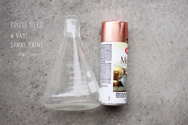 copper vase DIY by AMM blog, via Flickr - okay, so why did I not think of the obvious before . . .
