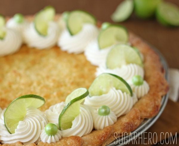 lime, coconut pie.  Make with a macaroon crust and kosher for passover powdered sugar for passover?
