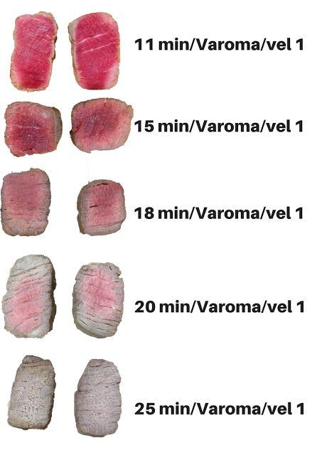Varomeando: Punto de cocinado de la carne al varoma