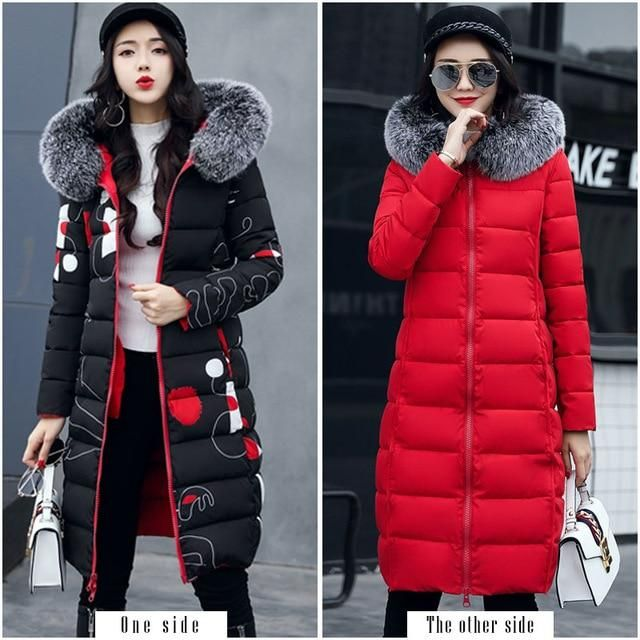 With fur hooded Woman Winter Jacket Women's Coat Plus Size 3XL Padd…