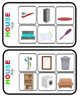 house bingo game vocabulary items devices game kids young learners english