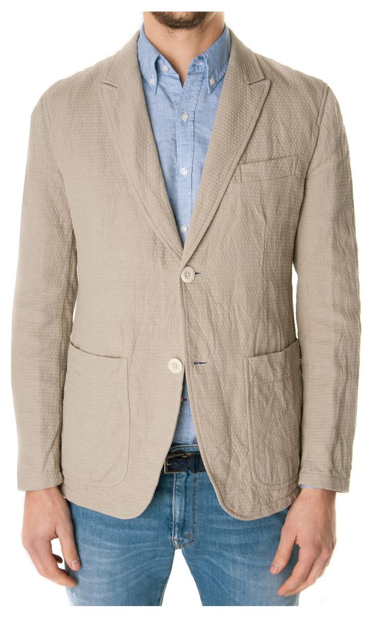 TS(S) cotton and linen blazer - #luxury #menswear  www.sansovinomoda.it