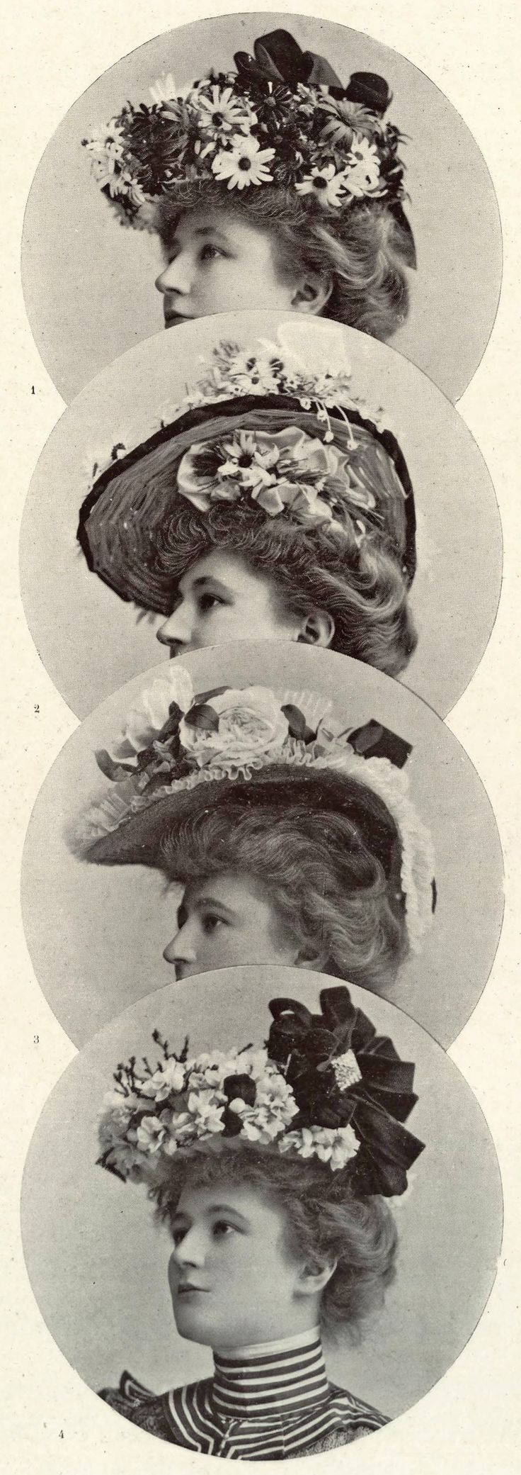 1901 May, Les Modes Paris - Hats of the season by Maison Nouvelle