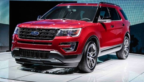 2016 Ford Explorer  The new model 2016 Ford Explorer with its