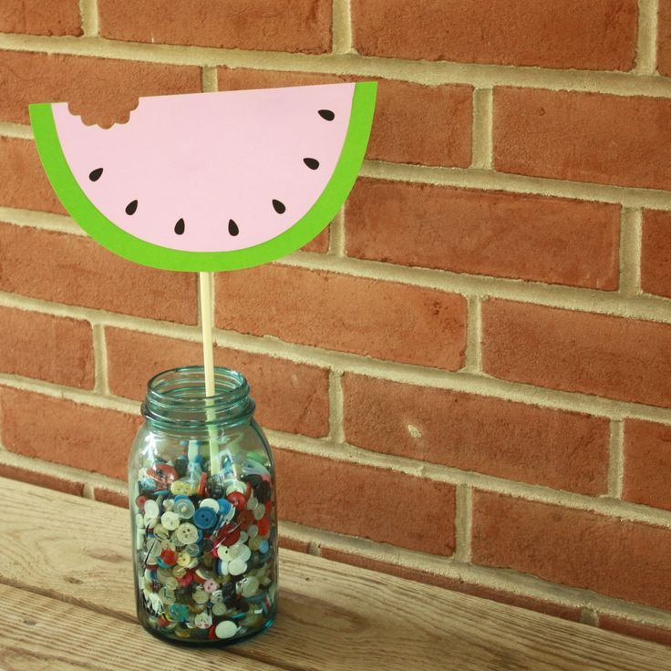 Watermelon Centerpieces - Watermelon Party - Watermelon Shower - Summer Party - Summer Centerpieces by LittleBitsHomemade on Etsy https://www.etsy.com/listing/242182893/watermelon-centerpieces-watermelon-party