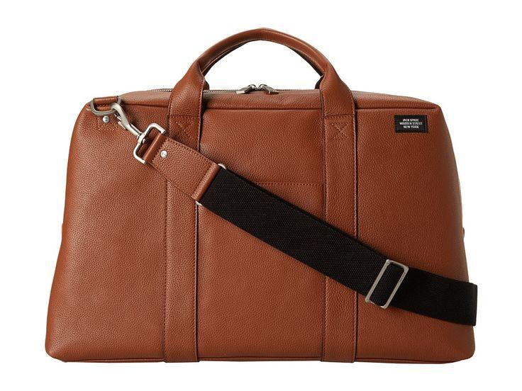 JACK SPADE JACK SPADE - WAYNE DUFFLE (TOBACCO) DUFFEL BAGS. #jackspade #bags #leather #lining #travel bags #weekend #