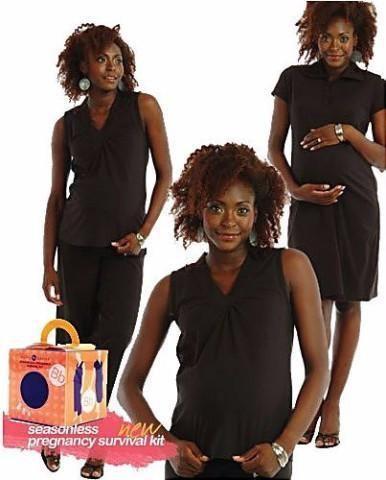 Belly Basics Women's Seasonless Pregnancy Survival Kit - Black - Size: XS