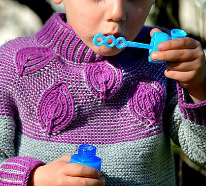 Two Color Sweater Knitting Patterns : 116 best Child Knitting Patterns images on Pinterest Free knitting, Knittin...