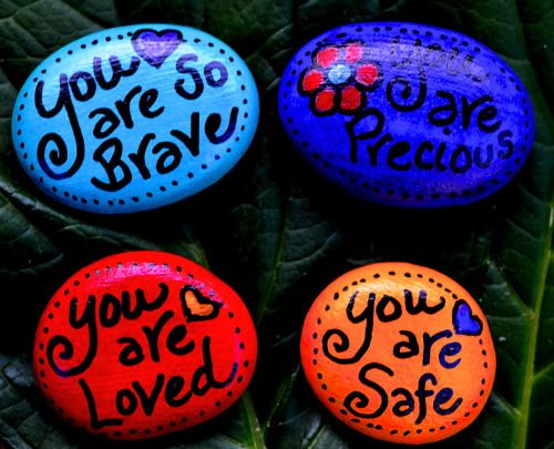 Image from: Back On Pointe. Exercise from: pdxtraumafree.com Have clients make affirmation jars and use for centering meditation in the park or other green space. Use as closure activity in group session where rocks are made for each participant by the other participants.