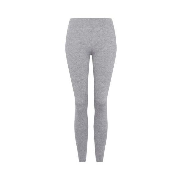 TopShop Basic Ankle Leggings ($20) ❤ liked on Polyvore featuring pants, leggings, light grey, elastic waist pants, light grey leggings, legging pants, topshop pants and stretch waist pants