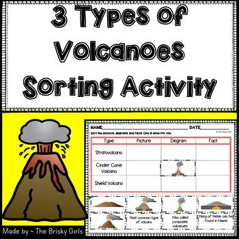 Great sorting activity to review the 3 types of volcanoes! Check out my other resources! ~3 Types of Volcanoes Reading Passages ~Rocks and Minerals Reading Passages ~Types of Rocks Reading Passages ~3 Types of Rocks Sort ~Rock Types Pocket Sort ~Rock Sorting Activities BUNDLE ~3 Types of Rocks Posters ~Types of Rocks Mini Posters ~Rock Cycle Match...