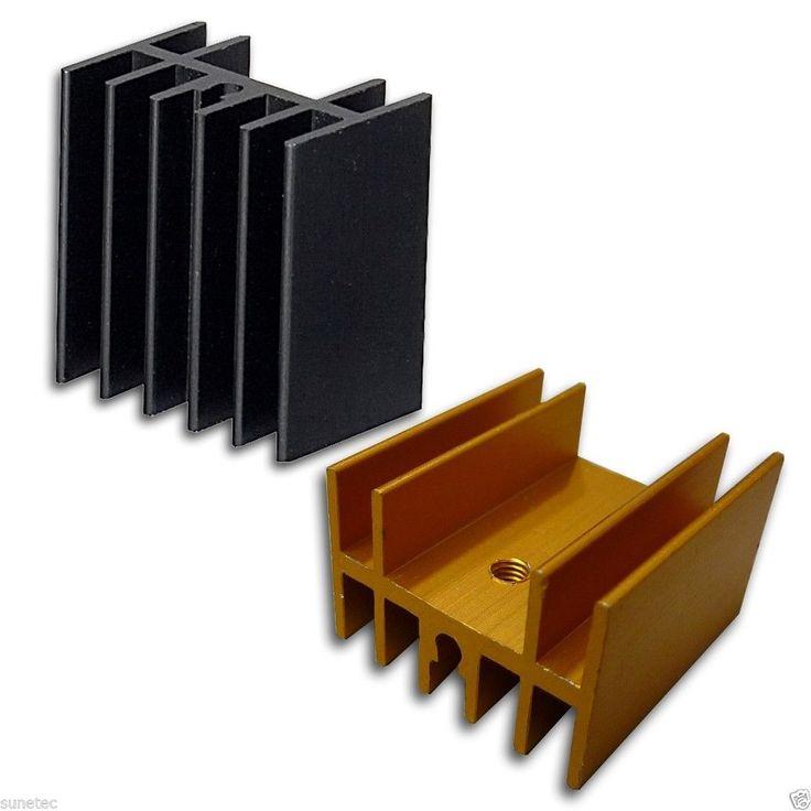 SS115 Aluminum Black Golden Heatsink Heat Sink Audio Amplifier