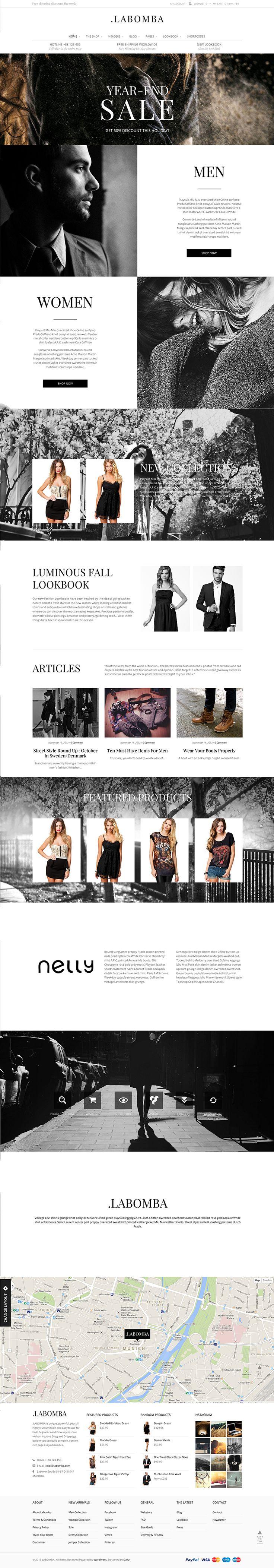 A flat ui design WordPress theme and WooCommerce integration