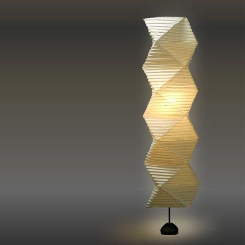 Sculpture of light Isamu Noguchi akari 35N+ST2 Paper Floor Lamp japan Chochin in Home & Garden, Lamps, Lighting & Ceiling Fans, Lamps | eBay