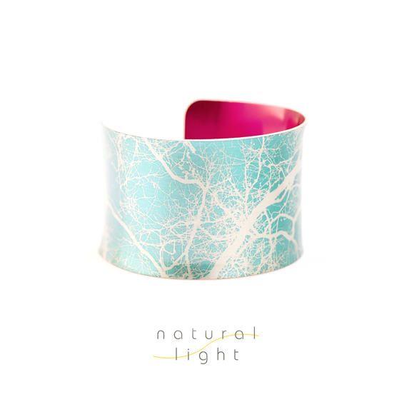 Cuff Bracelet Tree Study Aqua Blue Tree Jewellery