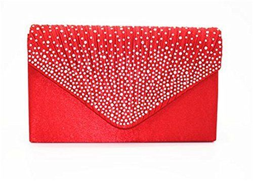 New Trending Clutch Bags: Nodykka Women Evening Envelope Rhinestone Frosted Handbag Party Bridal Clutch Purse (Red). Nodykka Women Evening Envelope Rhinestone Frosted Handbag Party Bridal Clutch Purse (Red)   Special Offer: $12.99      344 Reviews Get ready to shine! This rhinestone evening clutch will add a subtle glow to your evening formal attire. Inside can easily fit a cell phone, wallet, compact...