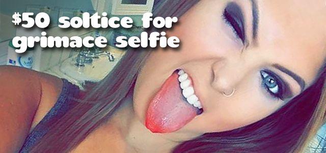 Prize: $50 Solstice Gift Card   Theme: Best GRIMACE selfie