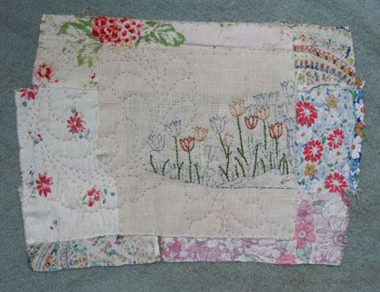 tulips-janet clare blog...***I love her work!  This was done with vintage fabrics.