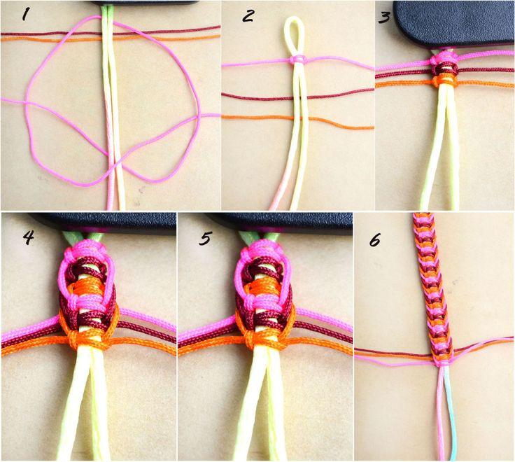 Cómo hacer patrones de cáñamo pulsera: diferentes maneras de hacer las pulseras del cáñamo - Pandahall