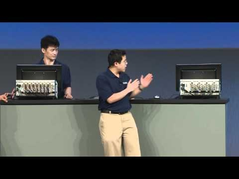 8x8 MIMO (LTE Advanced) Achieves up to 1 gigabit per second data - Watch as Dr Ian Wong and Yong Rao talk about the future of wireless data rates including LTE Advanced which supplies up to 1 gigabit per second transfer rates. In six short months they created a prototype using NI LabVIEW and LabVIEW FPGA, to demonstrate this technology. http://www.wireless-electronicspecifier.com/Tech-Videos/8x8-MIMO-LTE-Advanced-1-gigabit-second-data-NI.asp