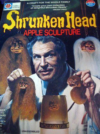 Remember this?: Craft, Stuff, Vincent Price, Apples, Shrunken Head, Kid, Halloween