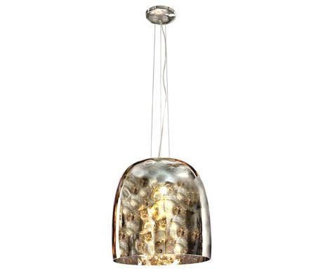 Elegancka lampa wisząca Bob marki Azzardo. Dzięki swojemu oryginalnemu wykonaniu: ryflowany klosz z chromowanego szkła, z pewnością zapewni stylowe oświetl