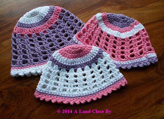 Rose Crochet Hat Pattern Instant Download Crochet by ALandCloseBy, €3.00