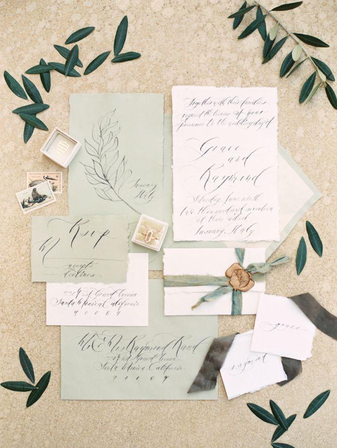 Ethereal wedding invitation suite: Photography: Allen Tsai - http://allentsaiphotography.com/