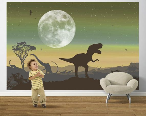 Age of Dinosaurs Sage Pre Pasted - Wall Sticker Outlet