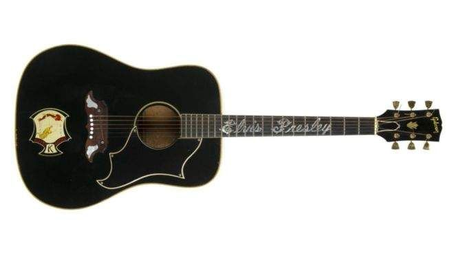 The 1969 guitar used by Elvis for his 1973 Pittsburg concert was sold in 2016 in an auction.