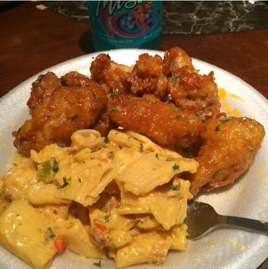 Haitian Macaroni and Haitian Wings....Yum!