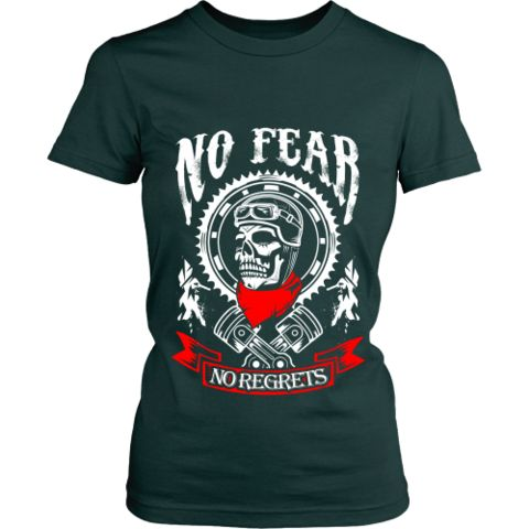 Motorcycle - 'No Fear' Women's Fitted Shirt