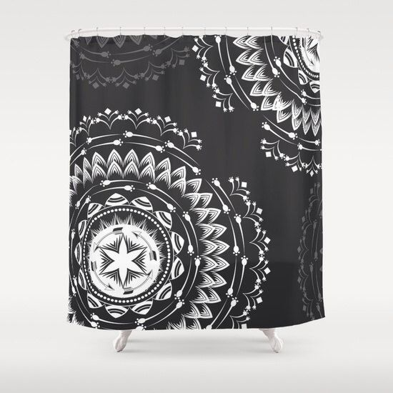 Rustic shower curtain, boho shower curtain, mandala bathroom decor, bathroom shower curtains, fabric shower curtain by Famenxt on Etsy https://www.etsy.com/listing/254870337/rustic-shower-curtain-boho-shower