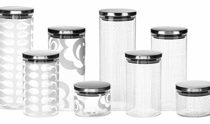 Beautiful glass canisters by bzyoo #home #homewares #storage #kitchen #glass #glassware #design #style #decor #homedecor