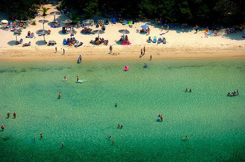 Thassos - Pefkospilia | One of the many sandy beaches of Tha… | Flickr