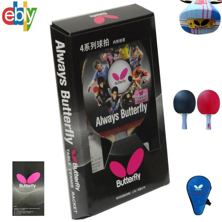 Butterfly TBC401 Table Tennis Ping Pong Racket Paddle Bat Blade FL Rubber NEW…