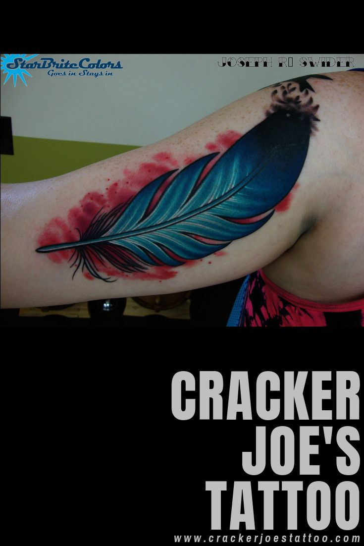 Feather Tattoo By New England S Best Color Tattoo Artist Cracker